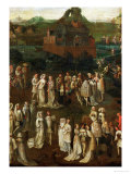 Court Society in Front of a Burgundian Castle Giclee Print by Jan van Eyck