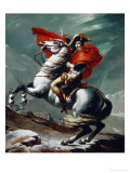 Napoleon (1769-1821) Crossing the Saint Bernhard Pass, 1801/2 Gicleetryck av Jacques-Louis David