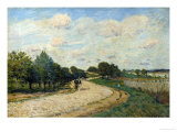 The Road of Mantes, 1874 Giclee Print by Alfred Sisley