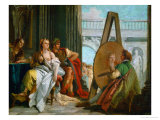 The Painter Apelles, Alexander the Great and Campaspe Giclee Print by Giovanni Battista Tiepolo