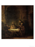 The Disciples at Emmaus, 1648 Reproduction proc&#233;d&#233; gicl&#233;e par Rembrandt van Rijn 