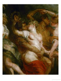 Satyr Embracing a Bacchante Reproduction proc&#233;d&#233; gicl&#233;e par Peter Paul Rubens