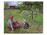 The Geese Pasture, 1893 Giclee Print by Camille Pissarro