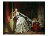 The Stolen Kiss Reproduction procédé giclée par Jean-Honoré Fragonard
