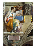 The Sistine Chapel; Ceiling Frescos after Restoration, the Erithrean Sibyl Giclee Print by  Michelangelo Buonarroti