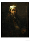 Self-Portrait with Easel, 1660 Giclee Print by  Rembrandt van Rijn