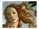 The Birth of Venus (Head of Venus), 1486, Tempera on Canvas Lámina giclée por Sandro Botticelli