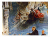 The Miracle of St. Francis Xavier: Detail of Angels Giclee Print by Peter Paul Rubens