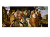 Anointing of David, 1555-60 Giclée-Druck von Paolo Veronese