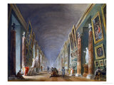 The Grande Gallerie of the Louvre after 1801 Giclee Print by Hubert Robert