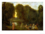 Assembly in a Park Giclee Print by Jean Antoine Watteau
