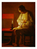 The Flea Catcher, circa 1630-1634 Giclee Print by Georges de La Tour