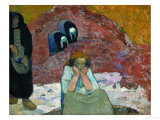 Gathering Grapes at Arles: Human Misery Giclee Print by Paul Gauguin