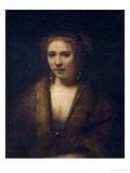 Portrait of Hendrijke Stoffels, 1655 Giclee Print by  Rembrandt van Rijn