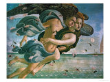 Birth of Venus, Detail: Mythological Couple Reproduction procédé giclée par Sandro Botticelli