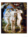 The Three Graces, circa 1636 Giclee Print by Peter Paul Rubens