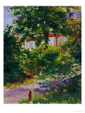 The Garden Around Manet's House in Reuil, France Giclee Print by Édouard Manet