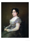 Lady with a Fan Giclee Print by Francisco de Goya