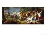 Diana and Her Nymphs Discoverd by Satyrs Giclee Print by Peter Paul Rubens