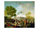 Picnic on the Banks of the Manzanares, Cartoon for a Tapestry, 1775 Giclee Print by Francisco de Goya