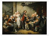 Betrothal in the Village, 1761 Giclee Print by Jean-Baptiste Greuze