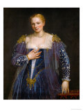 Portrait of a Woman, Called La Bella Nani Giclée-tryk af Paolo Veronese