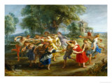 Peasants' Dance, circa 1630 Giclee Print by Peter Paul Rubens