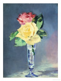 Roses in a Champaign-Glass, 1882 Giclee Print by Édouard Manet