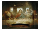 Last Supper, Detail of Christ with Apostles, 1498 Impressão giclée por  Leonardo da Vinci
