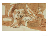 Isaak Blessing Jacob and Esau Giclee Print by  Rembrandt van Rijn