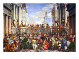 The Wedding at Cana (Post-Restoration) Reproduction proc&#233;d&#233; gicl&#233;e par Paolo Veronese