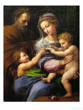 Madonna with a Rose Impression giclée par  Raphael