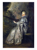 La Finette, Companion Picture to L'Indifferent (40-11-1/21) Giclee Print by Jean Antoine Watteau