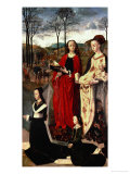 Saint Margaret and Saint Mary Magdalen with Maria Portinari and Her Daughter Giclee Print by Hugo van der Goes