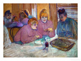 Prostitutes Around a Dinner Table, 1893 Giclee Print by Henri de Toulouse-Lautrec