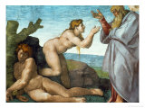 The Sistine Chapel; Ceiling Frescos after Restoration, the Creation of Eve Giclee Print by  Michelangelo Buonarroti