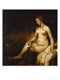 Bathseba in the Bath, 1654 Giclee Print by Rembrandt van Rijn