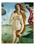 Birth of Venus (Detail of Venus), 1486, Tempera on Canvas Giclee Print by Sandro Botticelli