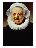Portrait of Aechje Pesser, Aged 83, Widow of Rotterdam Brewer Jan D. Pesser, 1634 Giclee Print by  Rembrandt van Rijn