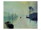 Lacroix Island, Rouen, Fog, 1888 Giclee Print by Camille Pissarro