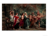 Lot and His Family Leaving Sodom, 1625 Giclee Print by Peter Paul Rubens