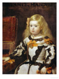 Portrait of the Infanta Maria-Margarita, Daughter of Philip IV, King of Spain Giclee Print by Diego Velázquez
