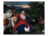 The Virgin with the Rabbit Giclee Print by  Titian (Tiziano Vecelli)