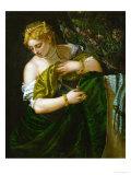 Lucretia, 1580-1583 Giclée-Druck von Paolo Veronese