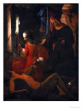 Saint Sebastian Tended by Irene Giclee Print by Georges de La Tour