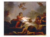 Adoration of the Shepherds Reproduction proc&#233;d&#233; gicl&#233;e par Jean-Honor&#233; Fragonard