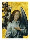 Angel Holding an Olive Branch, Symbol of Divine Peace Giclée-tryk af Hans Memling