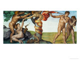 Original Sin, Ceiling Frescoes after Restoration Giclee Print by Michelangelo Buonarroti