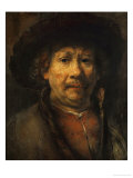 The Small Self-Portrait, circa 1657 Giclee Print by Rembrandt van Rijn 
