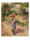 Farmwoman Digging Giclée-Druck von Camille Pissarro